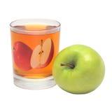 сок яблока стеклянный зеленый прозрачный Стоковые Изображения RF