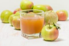 сок яблок яблока стеклянный зеленый Стоковые Фотографии RF