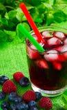 Сок ягоды с льдом Стоковые Изображения