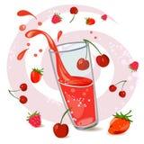 Сок ягоды Стоковая Фотография