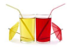 сок 2 стекел плодоовощ Стоковое Фото