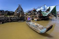 Сок Kompong Phluk Siem Reap Tonle стоковое изображение rf