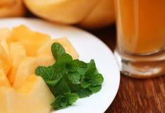 Сок melo или дыни огурца Стоковое фото RF