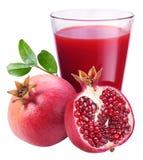 Сок Pomegranate с pomegranate Стоковые Изображения