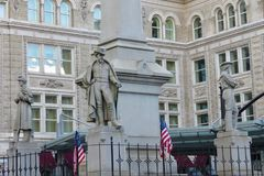 Солдаты и памятник матросов, Ланкастер, Пенсильвания стоковая фотография