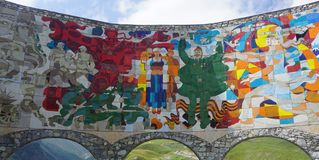 Солдаты памятника приятельства России Грузии стоковое изображение