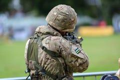 Солдат великобританской армии стоковые изображения rf