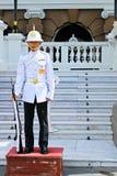 Солдат в грандиозном дворце, Бангкоке, Таиланде Стоковое Изображение