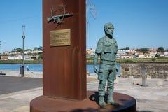 Солдат мемориала упаденный португальский, Vila делает Conde, Порту, Португалию стоковая фотография rf