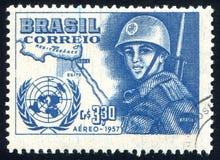 солдат напечатанный Бразилией Стоковое Изображение RF