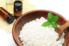 Соли для принятия ванны и масло ароматности Стоковые Изображения