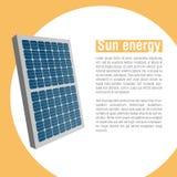 Солнечная батарея схематический вектор солнца иллюстрации энергии Позеленейте энергию энергия способная к возрождению Стоковые Изображения RF