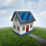 Солнечная индустрия экологически чистой энергии крыши иллюстрация вектора