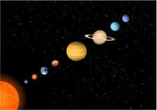 солнечная система Стоковая Фотография