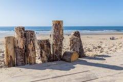 Солнечная сцена Нидерланды пляжа стоковая фотография