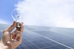 Солнечная энергия клетка солнечная стоковые фото