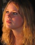 солнечний свет девушки Стоковые Фото