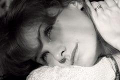солнечний свет девушки Стоковые Изображения RF