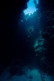 Солнечний свет через подводный выход подземелья Стоковые Изображения