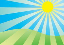 солнечний свет Стоковые Изображения RF