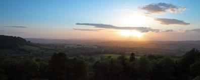 солнечний свет sidmouth Девона Стоковые Фотографии RF