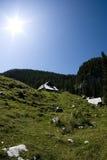 солнечное дня alps юлианское стоковые фото