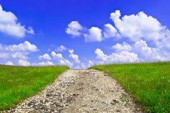 солнечное дороги дня сельское Стоковое Изображение RF