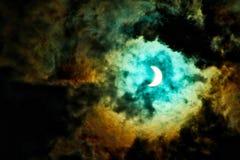 Солнечное затмение фантазии стоковое фото rf