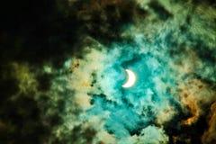 Солнечное затмение фантазии стоковая фотография rf