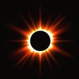 Солнечное затмение иллюстрация вектора