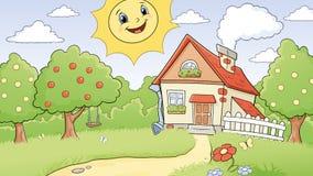солнечное ландшафта сельское Стоковое фото RF