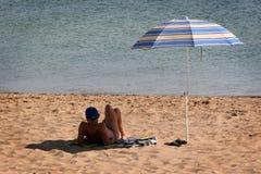 солнечное дня горячее Стоковые Изображения