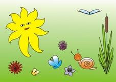 солнечность лужка иллюстрация вектора