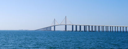 солнечность моста skyway Стоковые Изображения RF