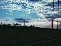 Солнечность через шоссе стоковая фотография rf