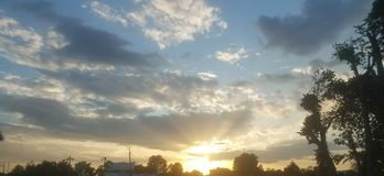 Солнечные горизонты Стоковое Изображение RF