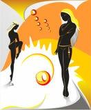 солнечные женщины иллюстрация штока