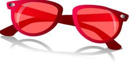 солнечные очки белые иллюстрация вектора