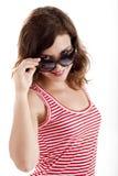 солнечные очки девушки Стоковое Изображение RF