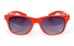 Солнечные очки женщин красные Стоковая Фотография RF