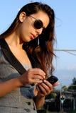 солнечные очки коммерсантки Стоковые Фото