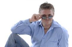 солнечные очки людей молодые Стоковое Фото