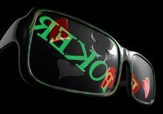 солнечные очки покера бесплатная иллюстрация