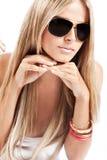 солнечные очки портрета Стоковая Фотография