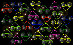 Солнечные очки предпосылки Стоковая Фотография RF