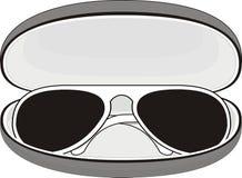 солнечные очки случая Стоковое фото RF