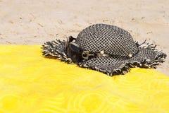 солнечные очки сторновки шлема пляжа Стоковые Изображения RF