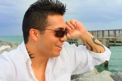 солнечные очки человека ся Стоковое Изображение RF