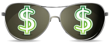солнечные очки иллюстрация штока
