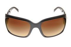 солнечные очки backgro коричневым изолированные способом белые Стоковые Фотографии RF